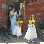 bride leaving for the church