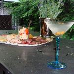 cocktail and appetizers