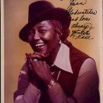 Star Museum's portrait of Virginia's Pearl Bailey, autographed to Joan Crawford. Miss Bailey san