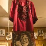 Janis Joplin's raw silk 'hippie' dress is shown hanging in residence, at Abingdon's Star Museum.