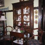 China cabinet with lovely antiques.