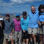  Nate Goldberg with his &quot;usual&quot; team of club member hikers.