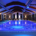 Swimming pool with light therapy