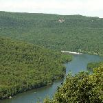 view of Tennessee River Gorge from Visitor Center