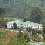 View from tea fields above the hotel