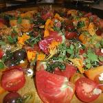  Ho Farms Tomato Salad with Goat Cheese