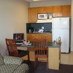 Kitchen area of room