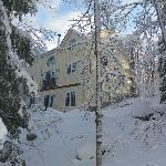 Winter is always beautiful in Muskoka.  We have 9 acres for hiking and snow shoeing. Snow shoes