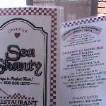 Sea Shanty menu