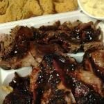 Catfish, Hushpuppies, Brisket, Ribs, & Potato Salad