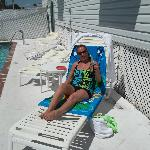Me basking at the pool
