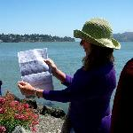 Teri Shows Copy of Deed for the Sale of El Rancho del Sausalito ( Cali Gilbert photo)