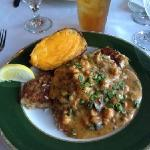  Grouper with a Crawfish sauce