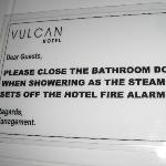  sign in the bathroom