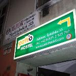  Hostel entrance.