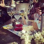 Wine and cheese tray