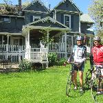 In front of Alderbrook.  A 2 day cycling trip from Forks of the Salmon River doing the 100 mile