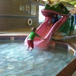 Little kids pool and slide