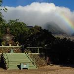 Rainbow over the Buddha