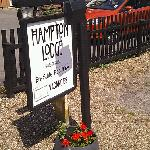 Hampton Lodge SIgn