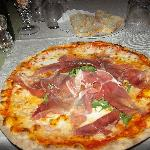 Pizza at Cucina Morena's restaurant near Il Teatro (restaurant is located one block away)