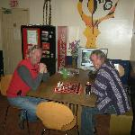 chess in the kitchen!