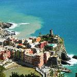 high above Vernazza
