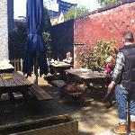 alfresco at Babbity Bowster