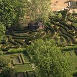 "aerial shot of the Maze Garden at Morton Arboretum.  Have a ""mouse"" experience. :)"