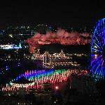 View of World of Color from our room on 14th floor of Disney's Paradise Pier