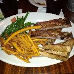 The all you can eat ribs platter at Hungry Harry's