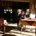  The owner Soekie keeping us company at breakfast