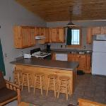 Each cabin offers a fully equiped kitchen!