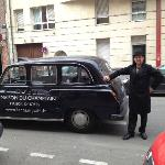 Chef and Owner with a London Cab in Lille!