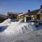 Lion Inn in the snow.