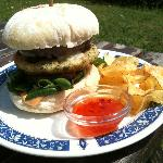 My surf 'n' turf burger at Baggy's Surf Lodge
