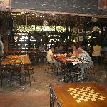 chess-themed dining tables