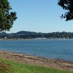 Bay of Islands view from road outside Bay Sands Motel NZ