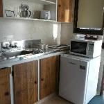 kitchen, Bay Sands Motel, NZ