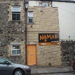Entrance to Nomad, Cardiff, viewed from street