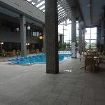 Large swimming pool area