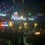 Patio at Applebees with DJ