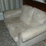 soiled and tired settee