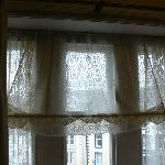 dusty dated curtains