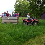 farmer john at howbeck taking the kids for a ride