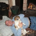 my hubby and dog loved the open fire!