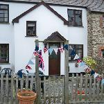 Martin Cottage - decorated for the jubilee!