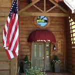 Old Glory waves a hearty hello at the Getaway Inn at Cooper's Woods