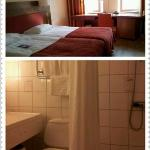 room & bathroom area