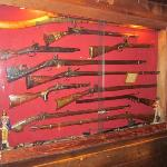  Part of the collection of firearms on display